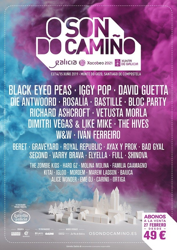 Cartel completo de O Son do Camiño 2019