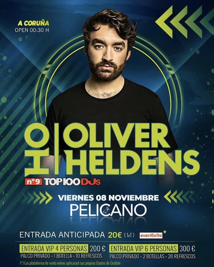 Oliver Heldens en A Coruña, 8 de noviembre