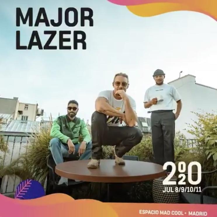 Major Lazer confirmados para el Mad Cool 2020