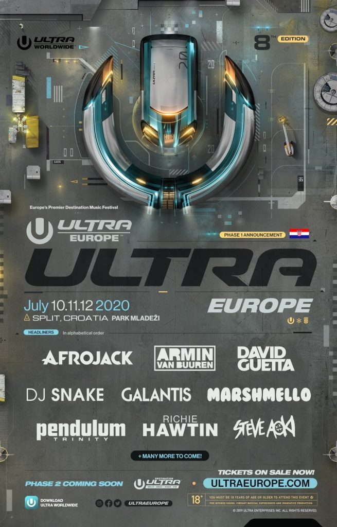 ULTRA Europe 2019 Phase 1
