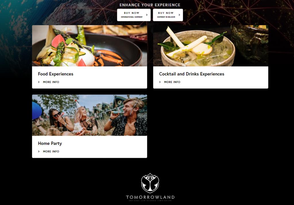 Tomorrowland ofrece comida y bebida para su festival virtual